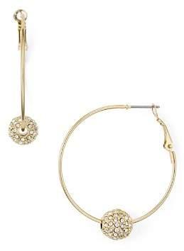 Aqua Pavé Ball Hoop Earrings - 100% Exclusive