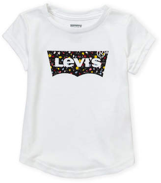 Levi's Toddler Girls) Floral Print Batwing Short Sleeve Tee