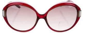 Gianfranco Ferre Round Embellished Sunglasses