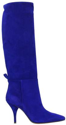 L'Autre Chose Blue Suede Boots