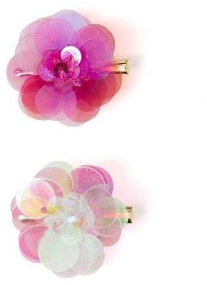 Gymboree Sequin Flower Clips