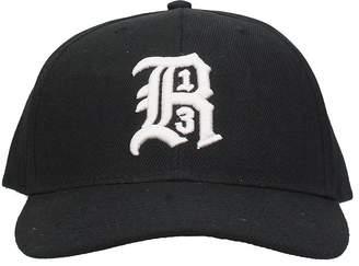 R 13 Black Cotton Hat
