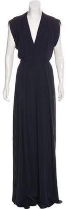 Calvin Klein Collection Silk High-Rise Wide-Leg Jumpsuit