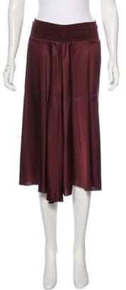 Rozae Nichols Silk-Accented Midi Skirt