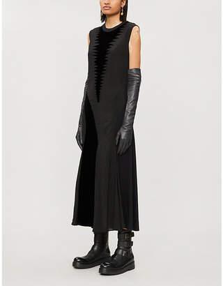 Loewe Sleeveless round-neck crepe midi dress