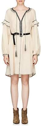 Etoile Isabel Marant Women's Ralya Embroidered Cotton Voile Dress - Cream