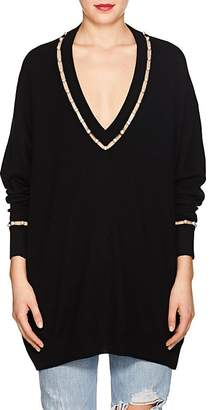 Givenchy Women's Pearl-Inset Wool-Silk-Cashmere Sweater