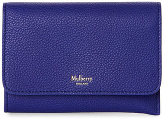 mulberry Indigo Continental Key Coin Pouch $220 thestylecure.com
