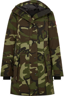 Canada Goose Kinley Hooded Quilted Camouflage-print Shell Down Parka - Green