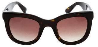 Anine Bing Tortoiseshell Square Sunglasses