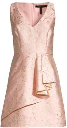 BCBGMAXAZRIA Draped Fit-&-Flare Dress