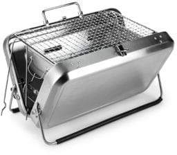 Kikkerland Portable Stainless Steel Barbeque Grill Briefcase