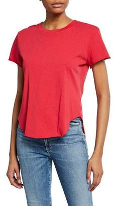 Frank And Eileen Crewneck Short-Sleeve High-Low Vintage Tee, Red