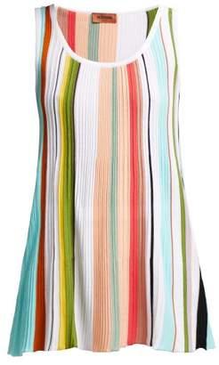 Missoni Striped Cotton Tank Top - Womens - Multi Stripe