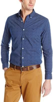 Dockers Long Sleeve Cotton Printed Anchor Poplin Shirt