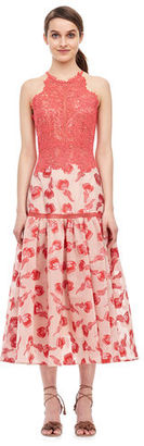 Floral Jacquard Midi Dress $795 thestylecure.com