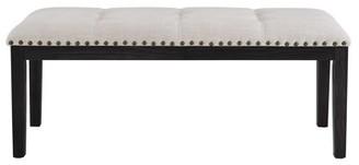 Picket House Furnishings Bradley Upholstered Bench Dark Walnut