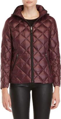 Lauren Ralph Lauren Packable Quilted Faux Leather Trim Down Jacket