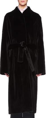 The Row Paret Belted Long Mink Fur Coat