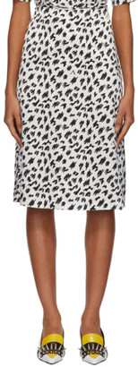Ashley Williams Black and White Scribble Slip Skirt