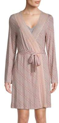 Saks Fifth Avenue COLLECTION Lori Geo Print Robe