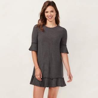 Lauren Conrad Women's Ruffled T-Shirt Dress