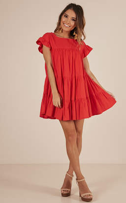 Showpo Timeless Beauty dress in red - 12 (L) Midi Dresses