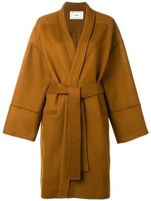 Mauro Grifoni boxy tie-waist coat