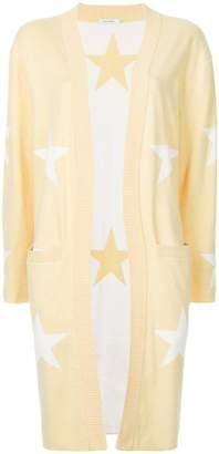 GUILD PRIME star-intarsia longline cardigan