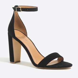 J.Crew Factory Suede chunky-heel sandals