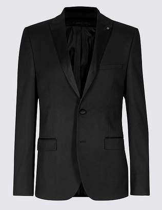 Marks and Spencer Black Textured Skinny Fit Jacket