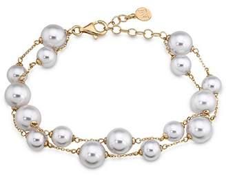 Majorica Double Row Simulated Pearl Bracelet