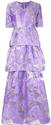 Baruni floral flared maxi dress