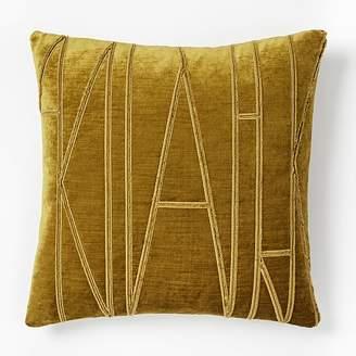west elm Velvet Applique Pillow Covers