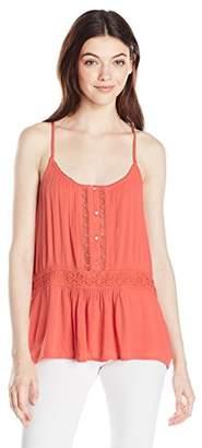 Volcom Women's Summit Stone Cami Bluse Damen Orange Tank Top Shirt,Medium