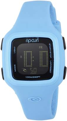 Rip Curl Women's Quartz Plastic and Silicone Sport Watch, Color Blue (Model: A2466GBAB1SZ)