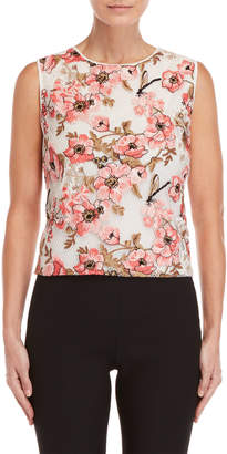 Giambattista Valli Floral Embroidered Tank