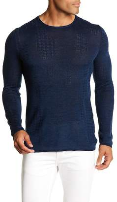 John Varvatos Collection Whipstitched Crew Neck Sweater
