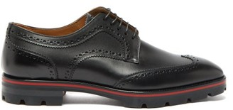 Christian Louboutin Laurlaf Chunky Soled Leather Brogues - Mens - Black