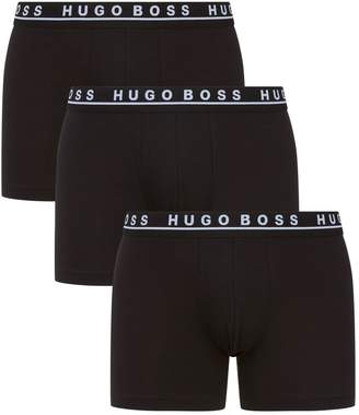 BOSS Logo Waistband Boxer Briefs (3 Pack)