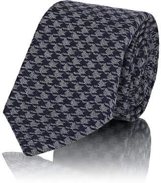Kiton Men's Houndstooth Wool-Silk Necktie