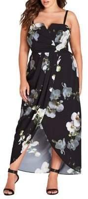 City Chic Plus Orchid Dreams Maxi Dress
