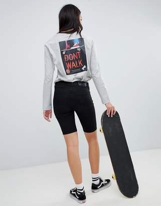Santa Cruz long sleeve tshirt with dont walk back graphic
