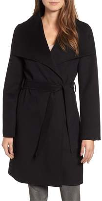 T Tahari Women's Ellie Double Face Wool Blend Wrap Coat, (XS)