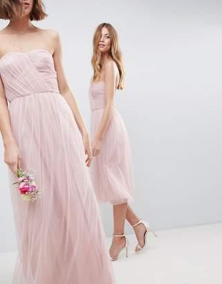 Asos Design DESIGN bridesmaid bandeau tulle maxi dress