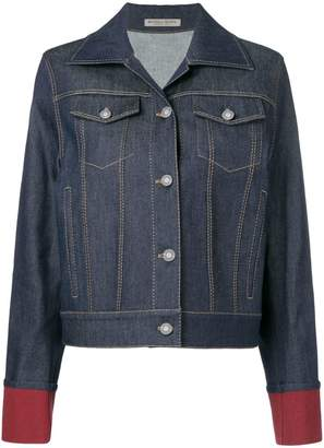 Bottega Veneta contrast cuff denim jacket