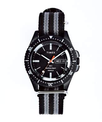 Todd Snyder Timex + Maritime Sport MS1 Watch in Black