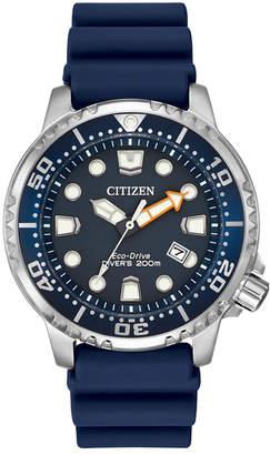 Citizen Men's Eco-Drive Promaster Diver Blue Strap Watch 42mm BN0151-09L $295 thestylecure.com