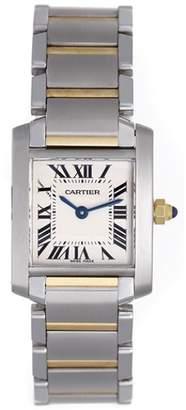 Cartier Tank Francaise W51007Q4 Stainless Steel & 18K Yellow Gold Quartz 20mm Womens Watch