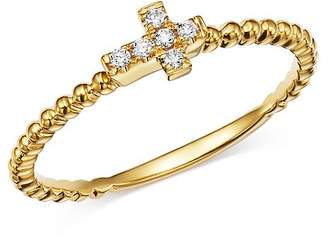 Bloomingdale's Diamond Cross Band in 14K Yellow Gold, 0.05 ct. t.w. - 100% Exclusive